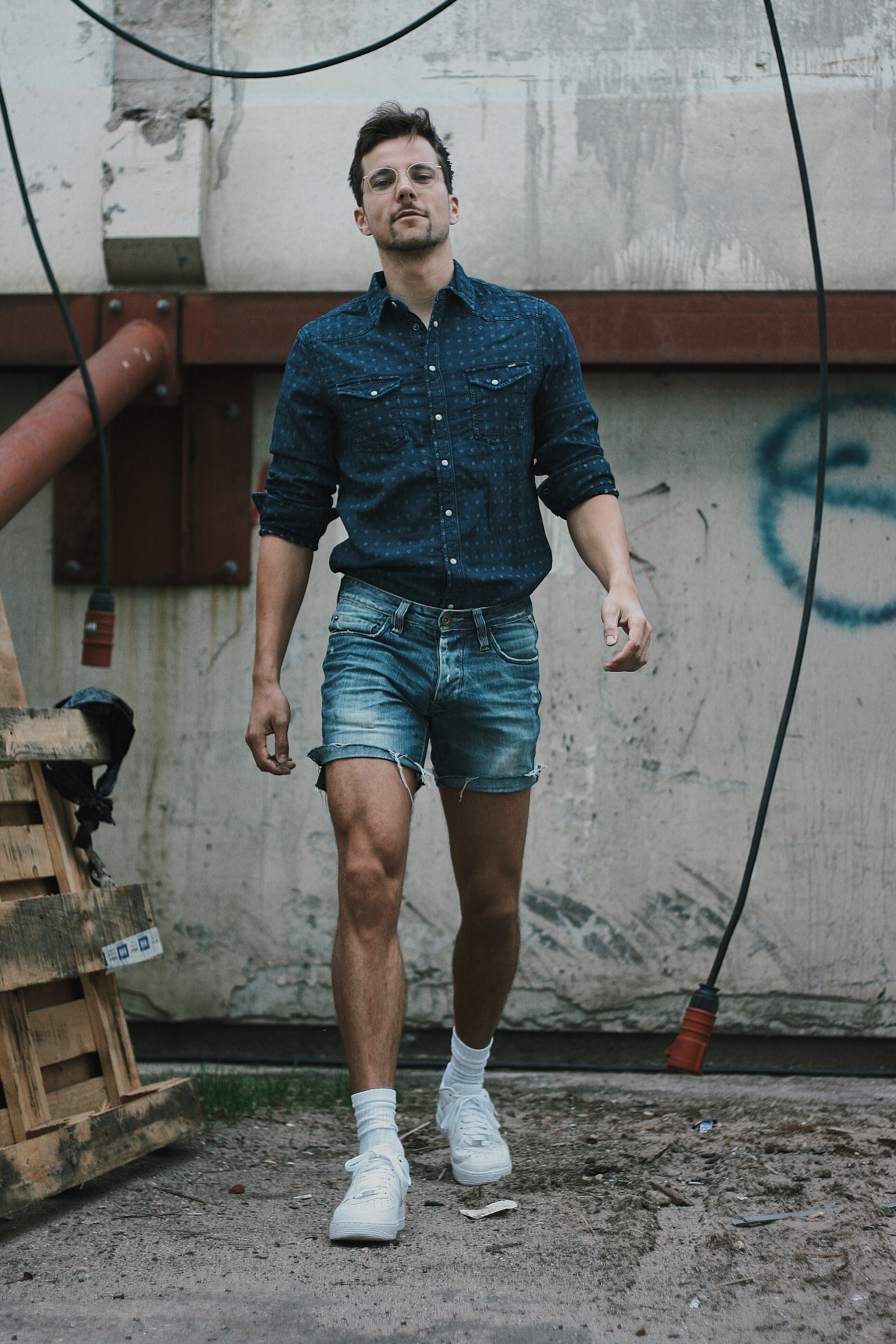 Double Denim And Shorts